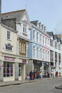 Impressive architecture of Boscawen Street, Truro