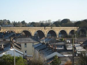 The Viaduct that carries the railway over the top of Truro